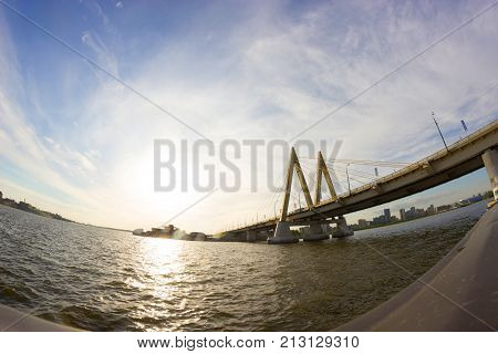 Millenium Bridge In Russia, Kazan City