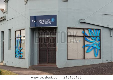 Ararat Australia - October 21 2017: AMP is an Australian financial services company. This AMP Financial Planning office is in Ararat in western Victoria.