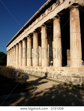 The Temple Of Hephaestus, Thission, In Athens
