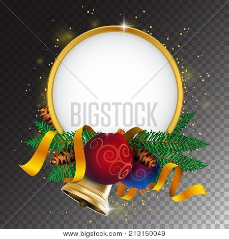 Merry Christmas Greeting Card Or Banner With Holiday Decoration
