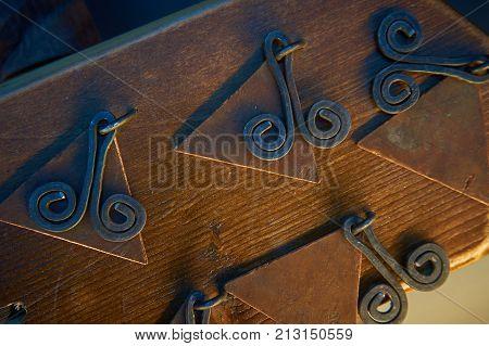 Fragments of Kazakh national musical instruments. Traditional Kazakh national musical instruments. Kazakh string musical instruments.