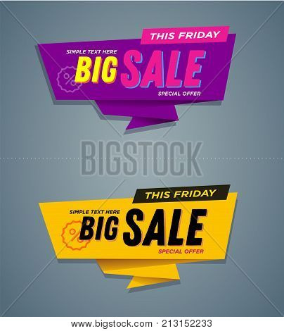 Limited Offer Mega Sale banner. Sale poster. Big sale, special offer, discounts, off