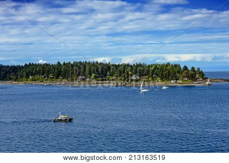Port Patrol Near Nanaimo and Gallows Point in British Columbia