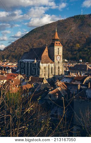 View Of Black Church At The Brasov