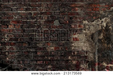 Old grunge brick background. Old brown wall. Grunge brick. Grunge style. Grunge brown. Grunge background. Brick texture. Brick background. Brick wall. Old wall. Brickwork.