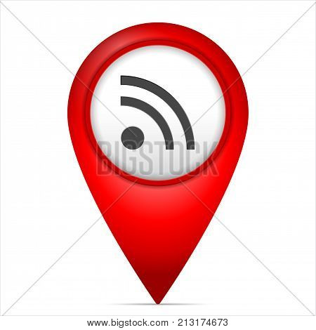 Map Marker With Rss Symbol