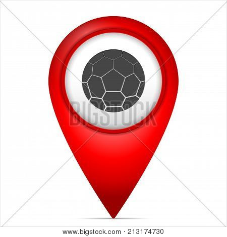 Map Marker With Soccer Symbol