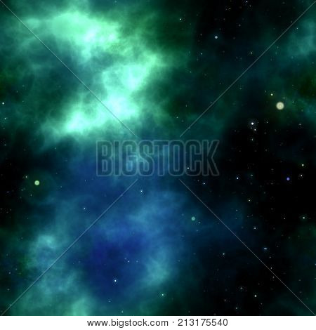 A seamless outer space cosmic background galaxy.