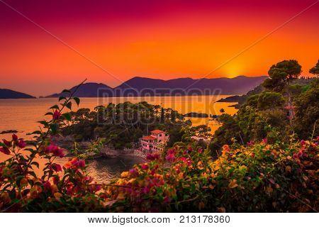 Summer Sunset Above The Ligurian Sea