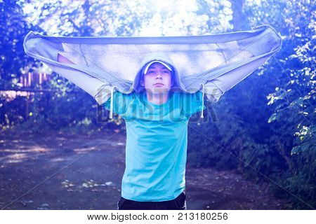 The Toned Photo of Teenager Portrait outdoor