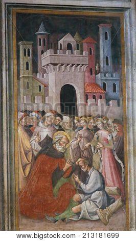 Fresco In The Basilica Of San Petronio, Bologna