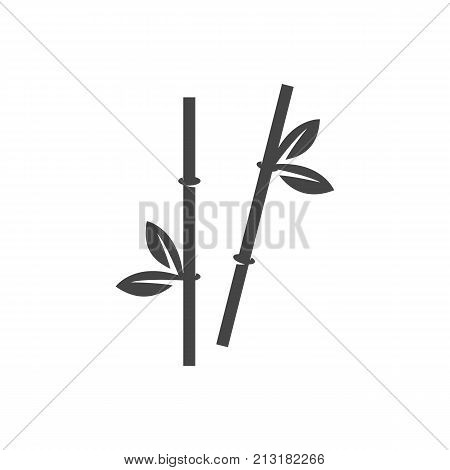 Bamboo stems icon on white background. Bamboo stems vector logo illustration isolated sign symbol. Modern pictogram for web graphics