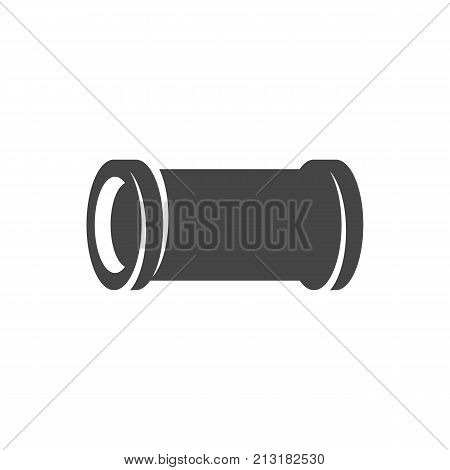 Water pipe icon on white background. Water pipe vector logo illustration isolated sign symbol. Modern pictogram for web graphics