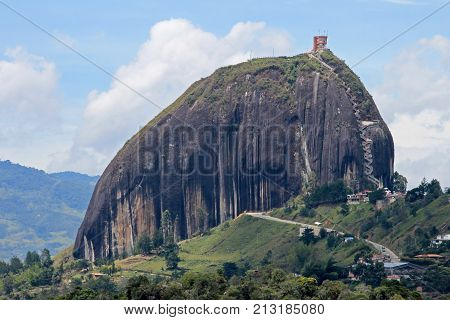 Rock of Guatape, Piedra De Penol, near Medellin, Colombia, South America