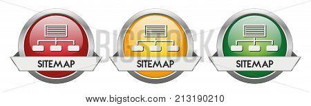 Modern Button Vector Sitemap