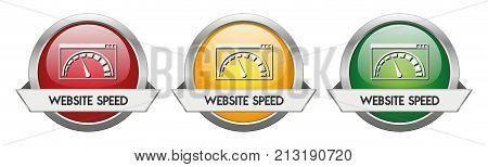 Modern Button Vector Website Speed