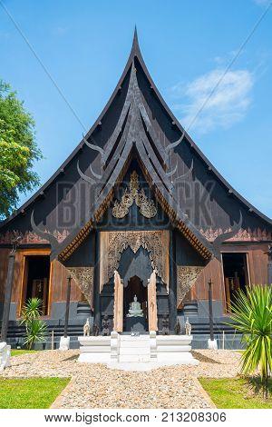 Chiangrai, Thailand - June 25 2016: 'The Black House' in Chiang Rai, otherwise known as 'Baan Dam' in Thai, The bizarre brainchild of Thai National Artist Thawan Duchanee.