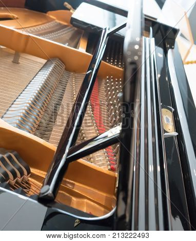 Grand Piano Strings. Piano Inside