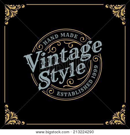 Vintage Luxury Banner Template Design