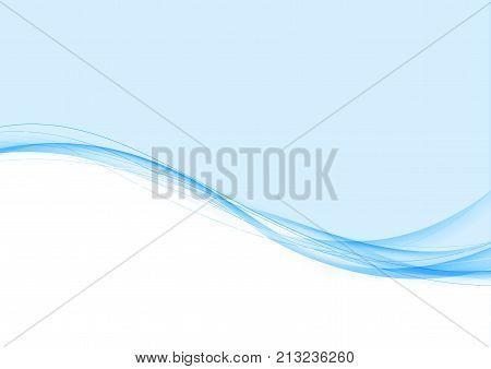 Futuristic blue modern wave lines element border hi-tech background. Vector illustration