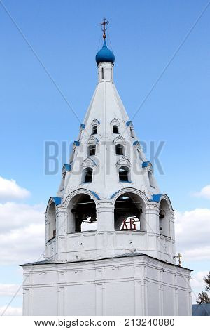 Belfry of the Dormition Cathedral in Kolomna. Russian Federation.