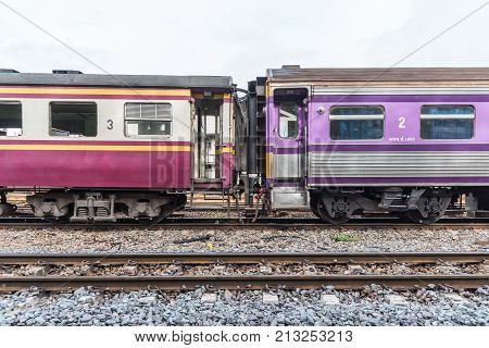 Mrt Subway Train Runs In Bangkok