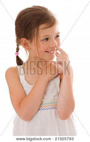 Girl Picking Nose