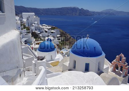 Santorini island in Greece, which attract to tourists.