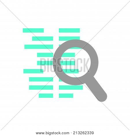 Lupe of seo search and engine theme Isolated design Vector illustration