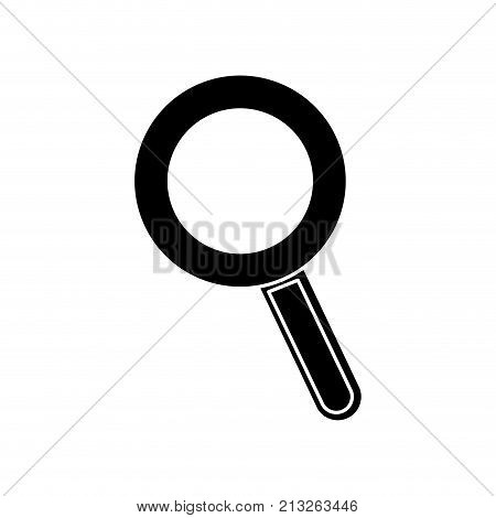 Lupe of tool search and magnifying glass theme Isolated design Vector illustration