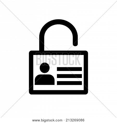 Lock icon User icon on key Personal protection icon. Internet privacy protection icon. Password protected. Security key pad. Vector Iconic Design.