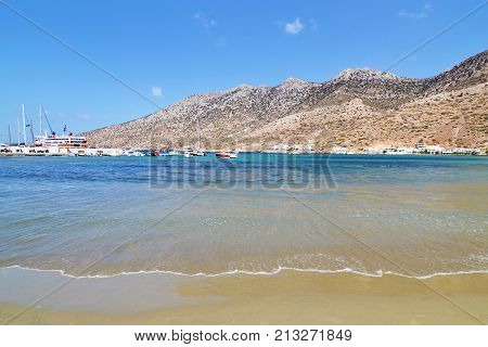 Kamares beach at Sifnos island Cyclades Greece