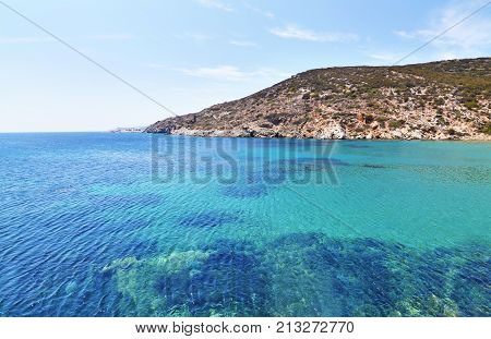 Aegean sea landscape at Sifnos island Cyclades Greece