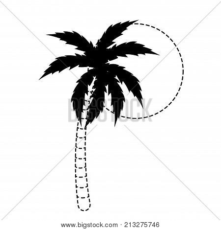 Palm tree of nature plant and summer theme Isolated design Vector illustration