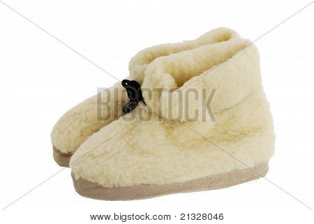 Pair Of Warm Fur Cozy Boots