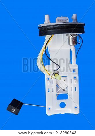 Case is separate with fuel pump tick spare part separate from case of the car for start in oil tank from Chery QQ China car has clipping paths.