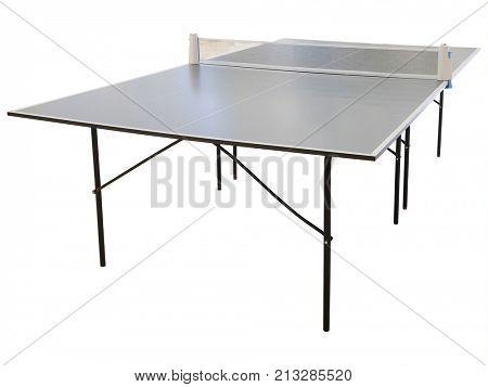 Ping pong table close up