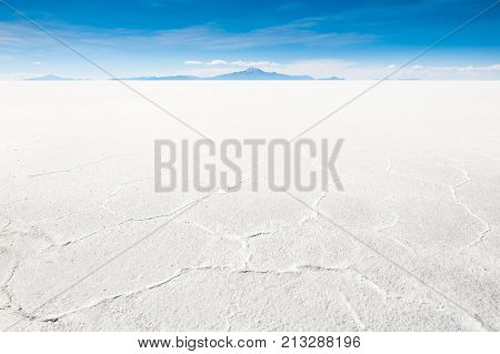 Salt flat Salar de Uyuni Altiplano Bolivia