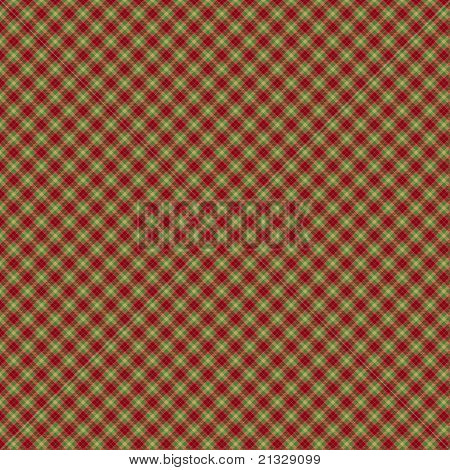 Red, Green and Yellow Plaid Pattern
