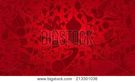 Russian red wallpaper world of Russia pattern with modern and traditional elements 2018 background trends vector illustration