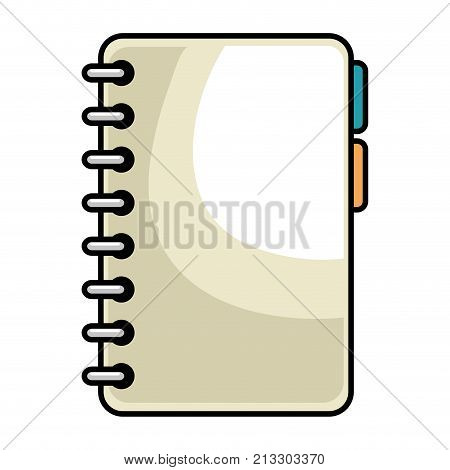 Notebook With Tabs Icon Vector Illustration Design