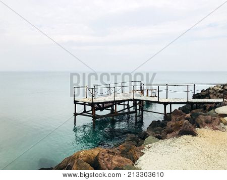 Seaside In The Autumn Color Image Stock Photos