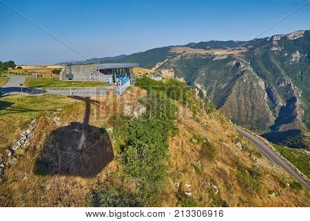 TATEV, ARMENIA - 02 AUGUST 2017: Wings of Tatev, Longest reverse Cable Car in the World