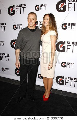 LOS ANGELES - APR 12:  Minka Kelly, Gunnar Peterson at the 'Gatorade G Series Fit Launch Event' at the SLS Hotel in Los Angeles, California on April 12, 2011.