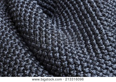 Wave forms of gray polyester fabric texture
