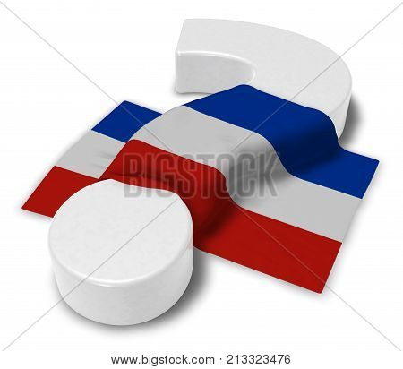 question mark and flag of schleswig-holstein - 3d illustration