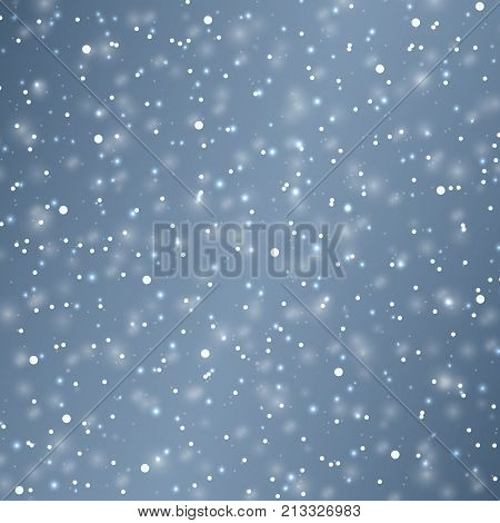 Vector snow background. Snowflake vector. Falling Christmas snow. Snowflakes decoration effect.