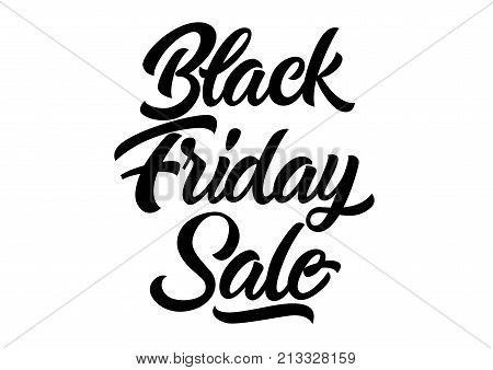 Black friday sale lettering. Hand drawn promo inscription. Calligraphic text can be used for flyers, leaflets, posters, banners, advertising