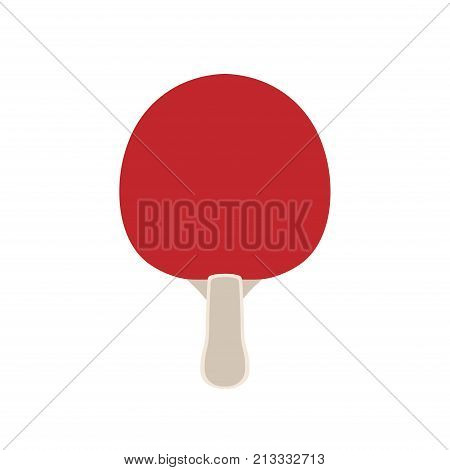 Ping Pong paddle tennis vector icon. Isolated illustration sport racket equipment