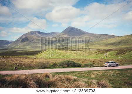Hiring A Car Is A Popular Way To Get Around The Scottish Highlands, Especially When The Sun Makes An
